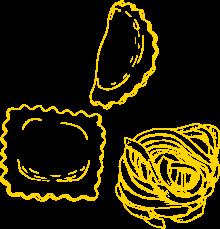 Ravioli-Tortellacci-Bandnudeln